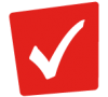 Red checkmark icon